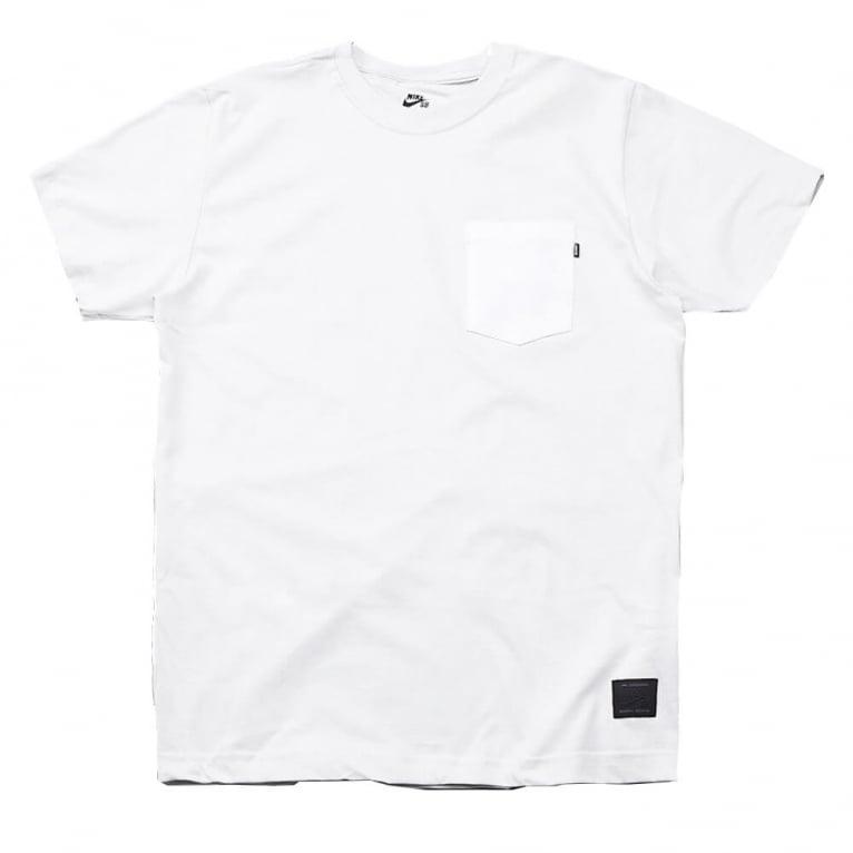 Nike SB Pocket Tee Off White