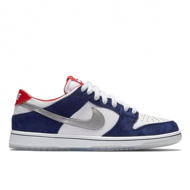"QS Ishod Wair Pro Dunk ""Motorsport"" - Deep Royal Blue / Metallic Silver - University Red"
