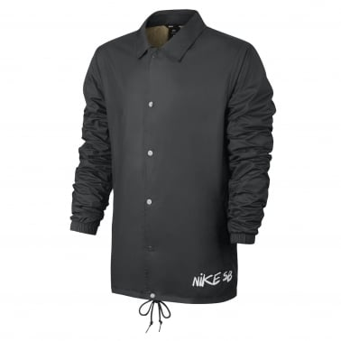 Shield Icon Coach Jacket - Anthracite/White
