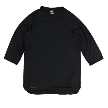 Skyline 3/4 Sleeve T-shirt - Black