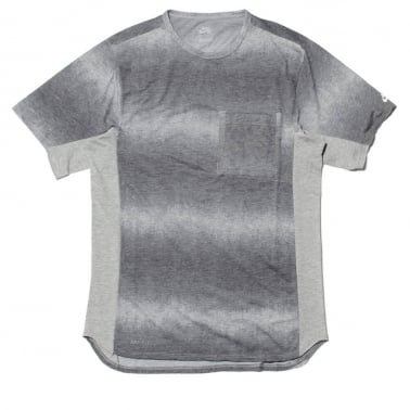 Skyline Dip Fade Custom Tee Grey