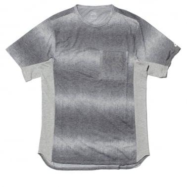 Skyline Dip Fade Custom Tee Grey