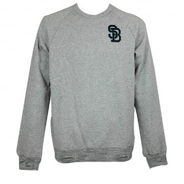 Woodgrain Crew Grey Heather
