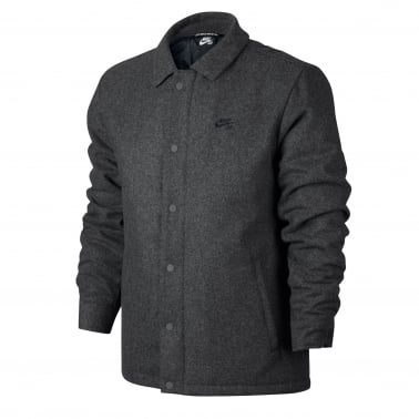 Wool Coach Jacket - Charcoal Heather