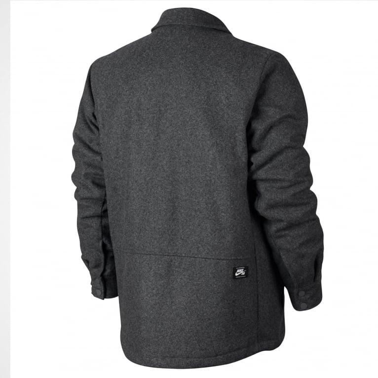 Nike SB Wool Coach Jacket - Charcoal Heather