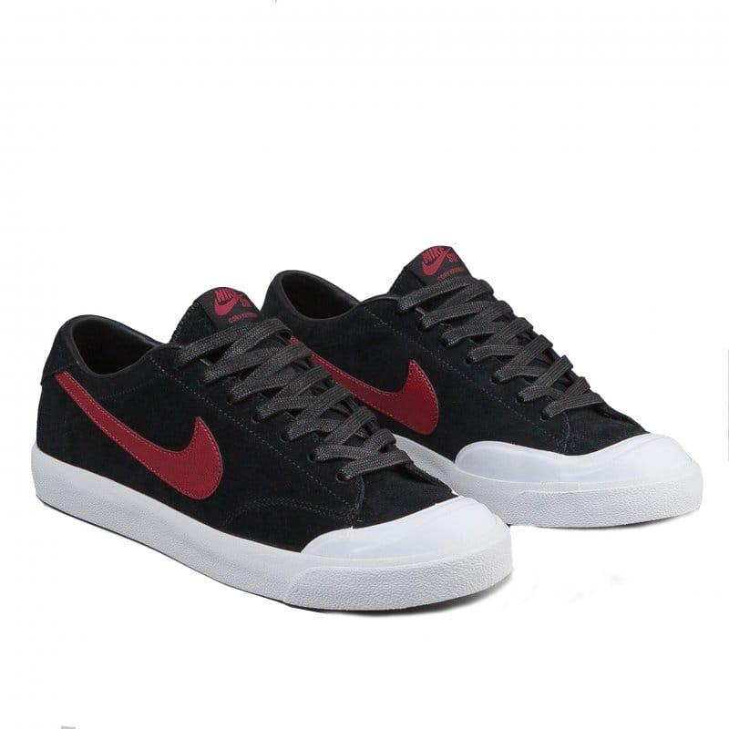 best sneakers 47ea1 b8350 Black Team Red Nike SB Zoom All Court CK | Skate Shoes | Natterjacks