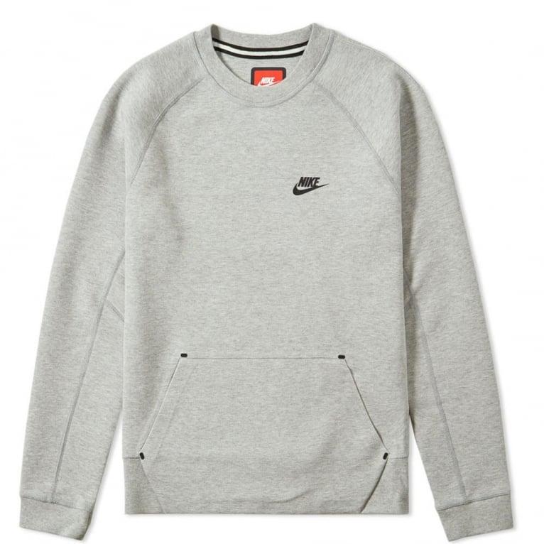 Nike Tech Fleece Crew - Dark Grey Marl