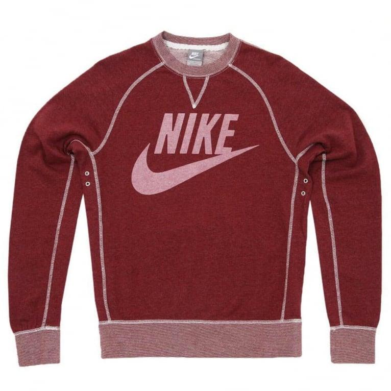 Nike Vintage Logo Crew Burgundy