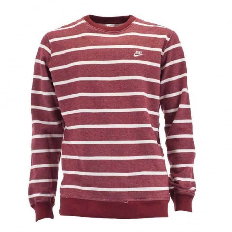 Nike YD Stripe Crew - Red/Cream