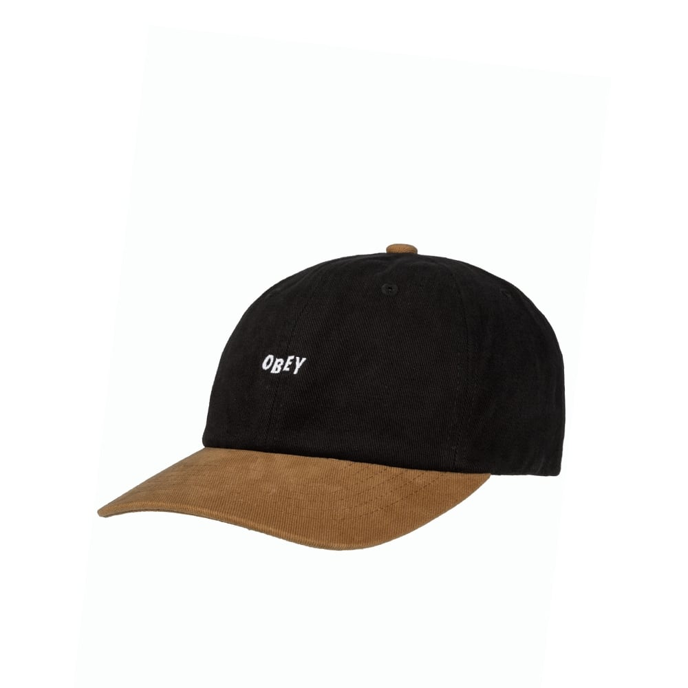 bcdb76d1 Obey 90's Jumble Cap - Black/Tan