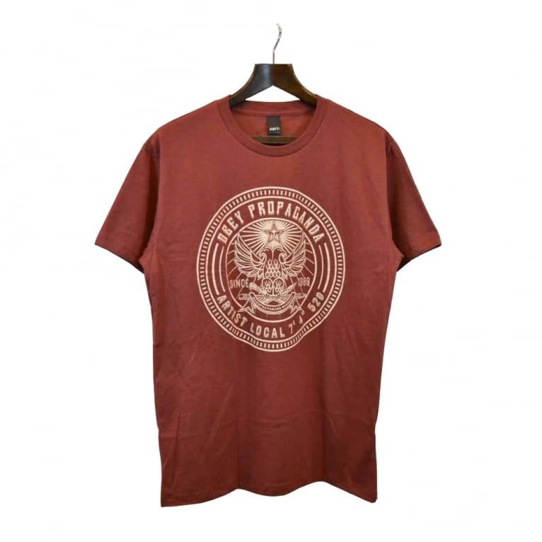 Obey Artist Local Tee Oxblood