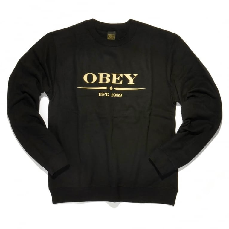 Obey Au Courant Crew Black