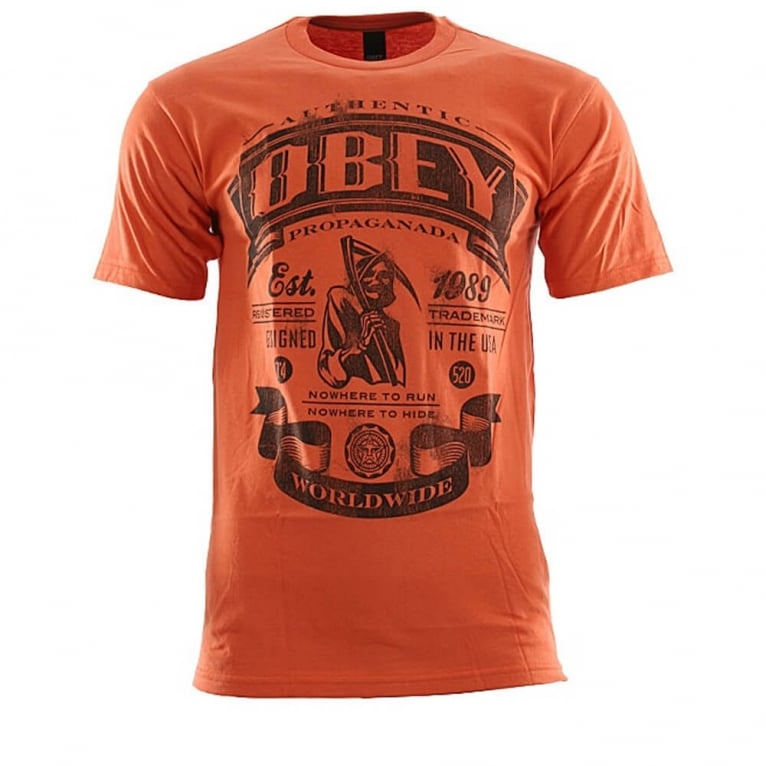 Obey Authentic T-shirt - Burnt Orange