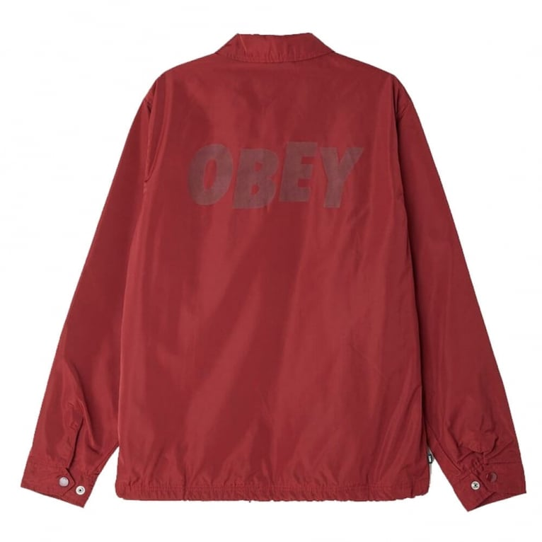 Obey Baker Graphic Jacket - Burgundy