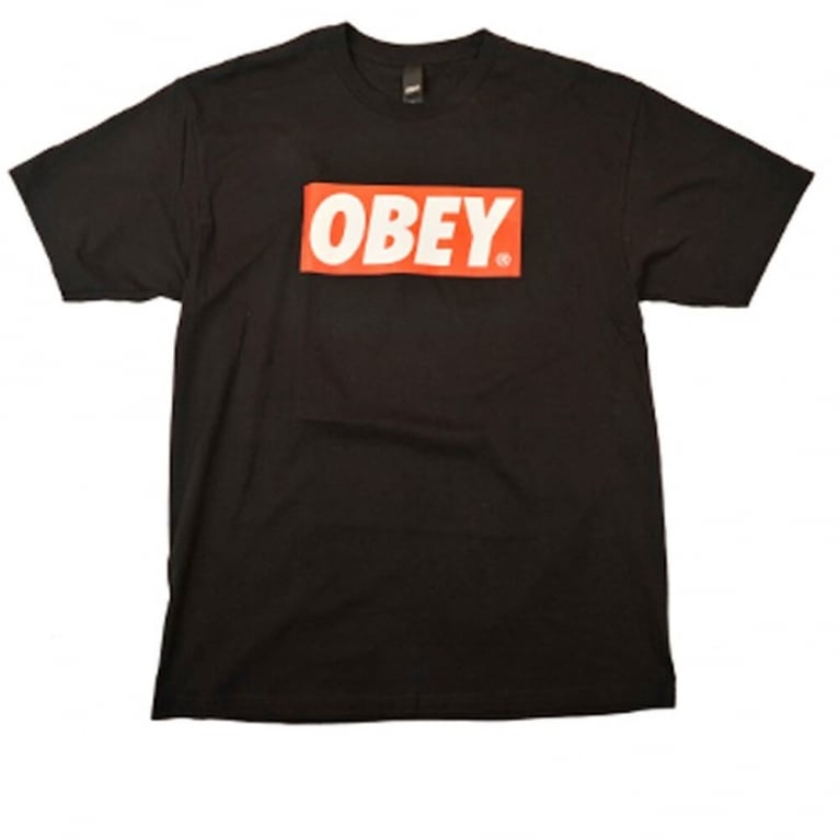 Obey Bar Logo Tee Black