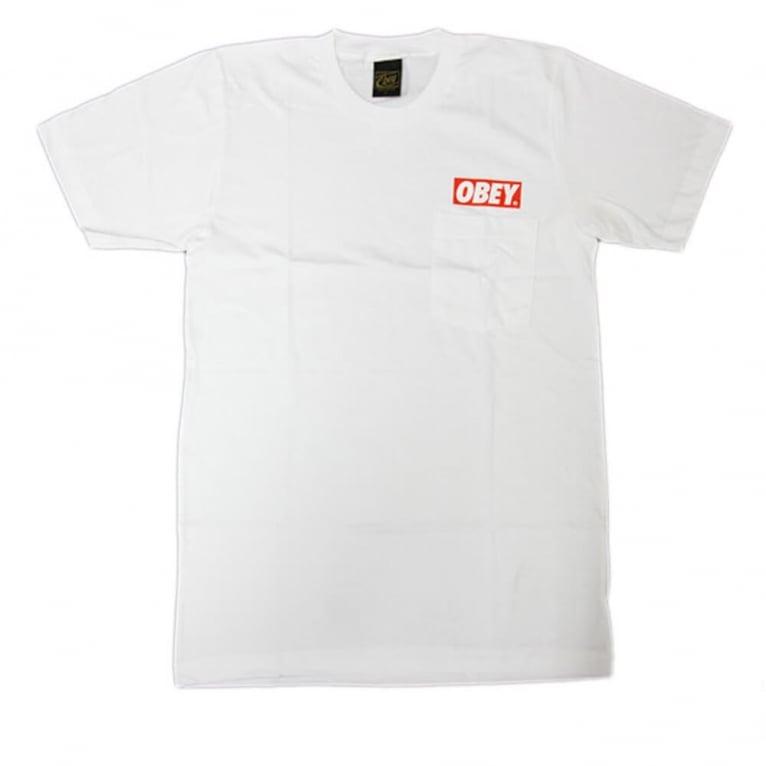 Obey Bar Pocket T-shirt - White