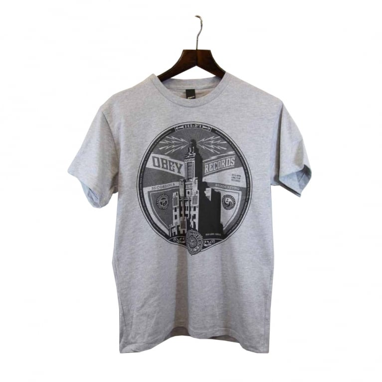 Obey Broadcast Lp Tee Heather/Grey