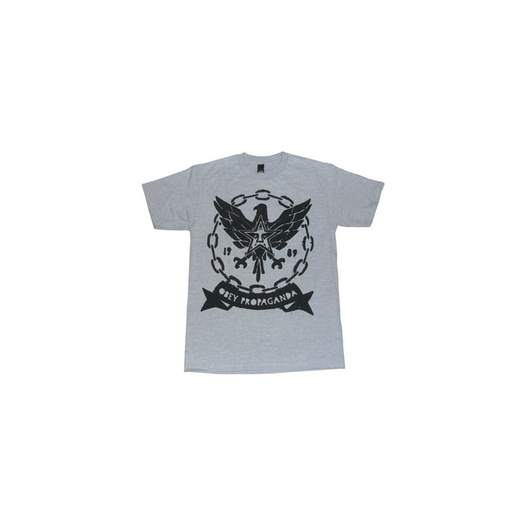 Obey Chained Eagle T-shirt - Heather Grey