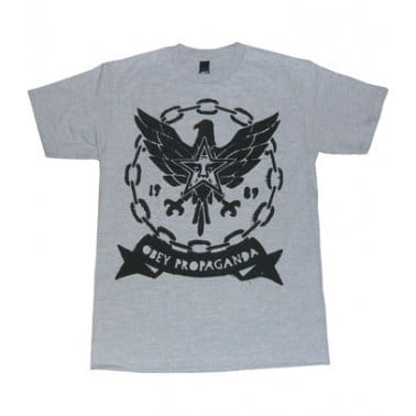 Chained Eagle T-shirt - Heather Grey