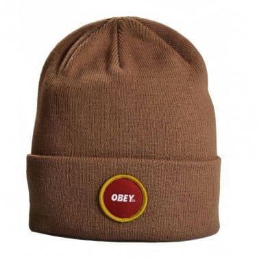 Circle Beanie - Light Brown