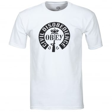 Civil Disobedience T-Shirt - White
