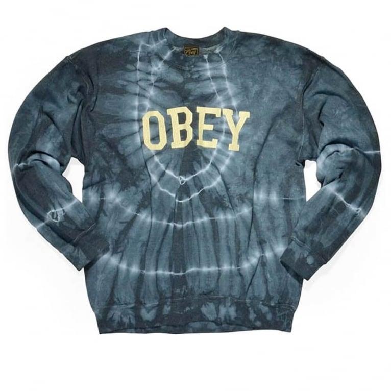Obey Collegiate Crewneck Sweatshirt - Dark Indigo