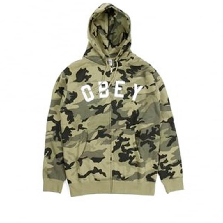 Obey Core Zip Hood Classic Camo