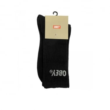Court High Sock Black/Grey