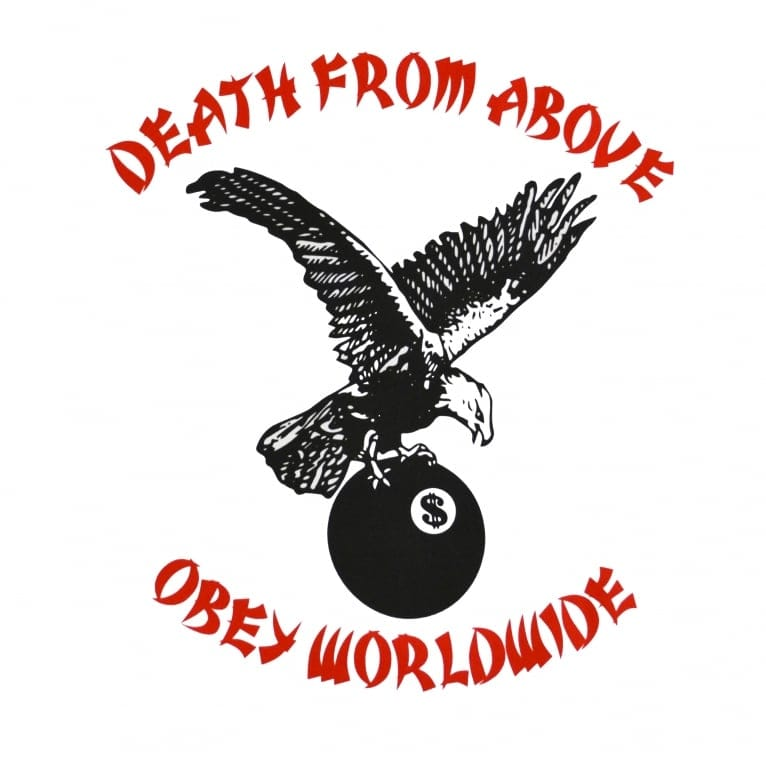 Obey Death From Above Long Sleeve - White