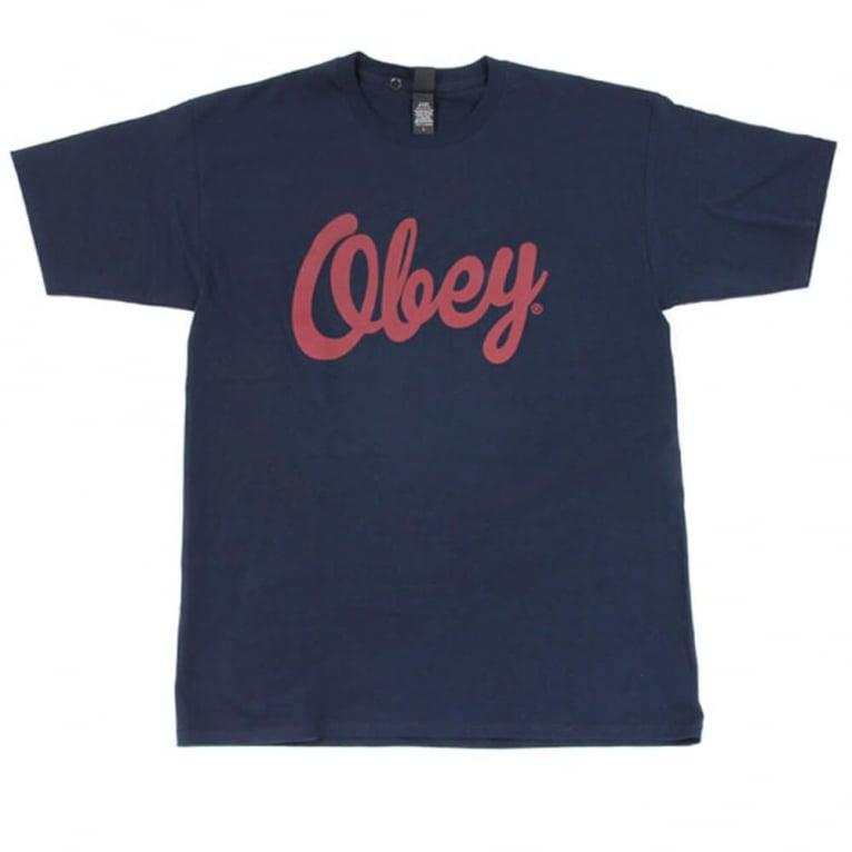Obey Dewallen Tee Navy