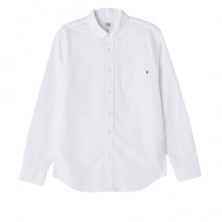 Obey Dissent LS Shirt White