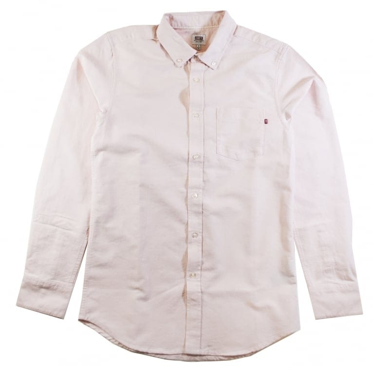 Obey Dissent Trait Long Sleeve Shirt - Pink