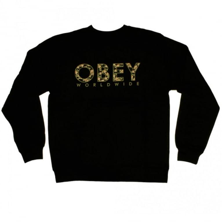Obey Floral Crewneck Sweatshirt - Black