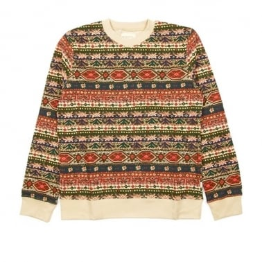 Folklore Crew Tan Stripe Sweatshirt