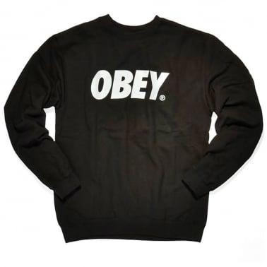 Font Crewneck Sweatshirt - Black