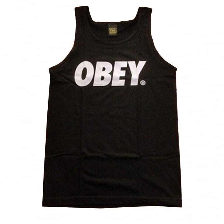 Obey Font Tank - Black