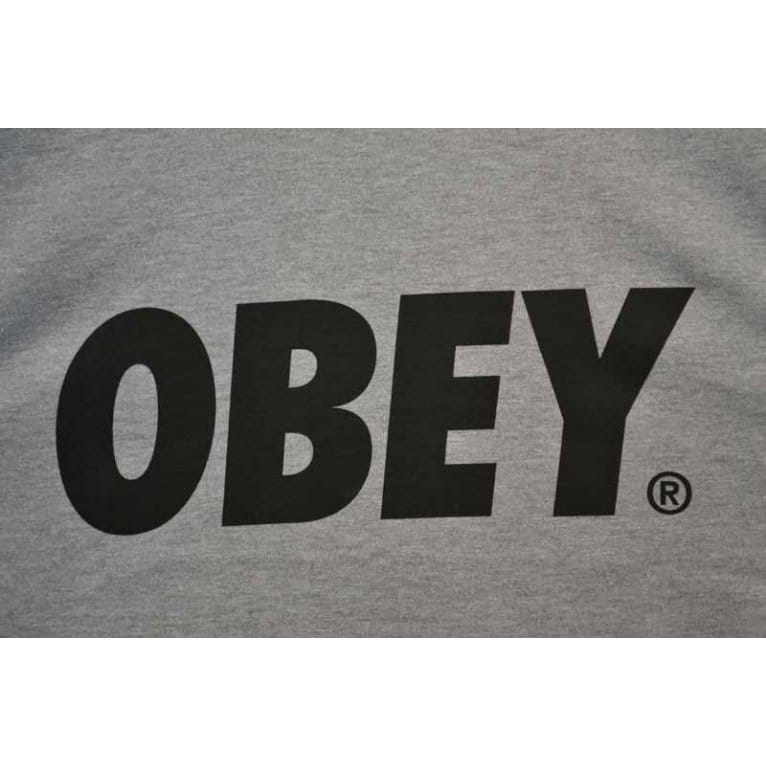 Obey Font Tee Heather Grey