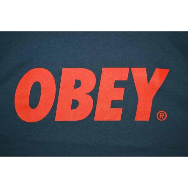 Obey Font Tee Patrol Blue