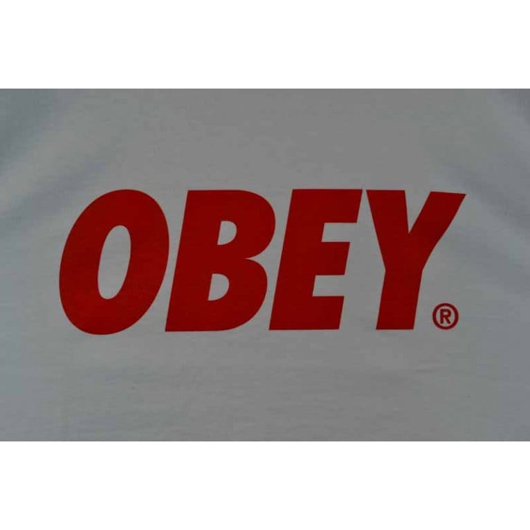 Obey Font Tee White