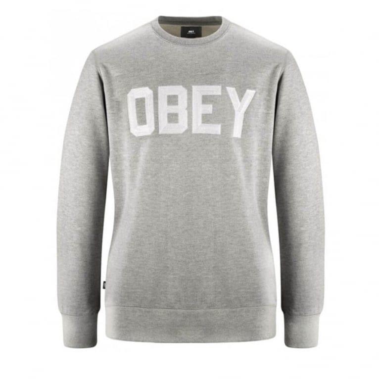 Obey Fordam Crew Neck - Heather