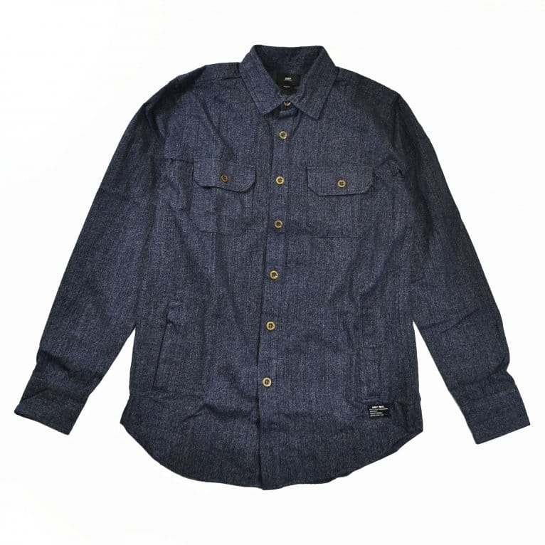 Obey Gil Woven Shirt - Navy