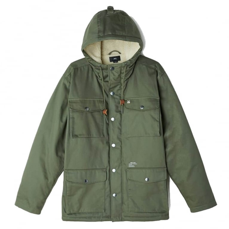 Obey Heller Parka Jacket - Army Green