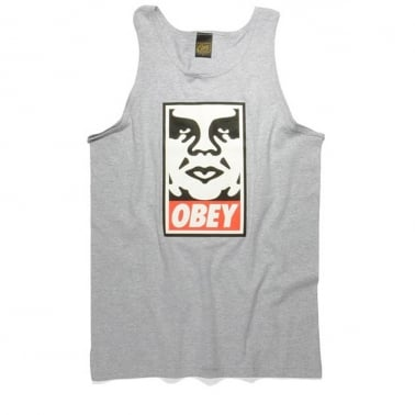 Icon Face Vest Heather Grey