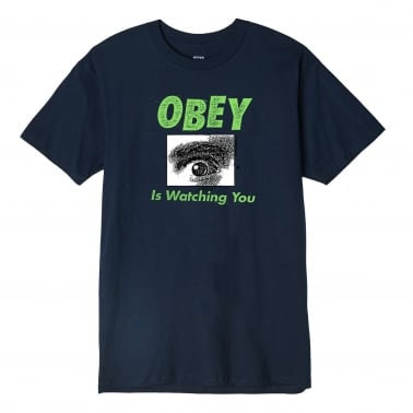 OBEY Is Watching You T-Shirt - Navy