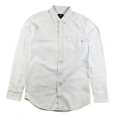 Keble Long Sleeve Shirt - White