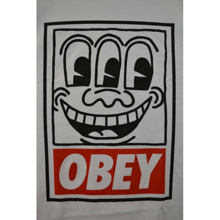 Obey Keith Haring Eyes Tee White