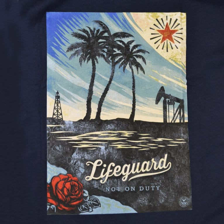 Obey Lifeguard Not Tee - Navy