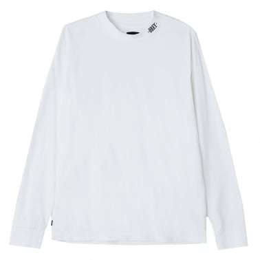 Linden Mock Neck Long Sleeve T-Shirt - White