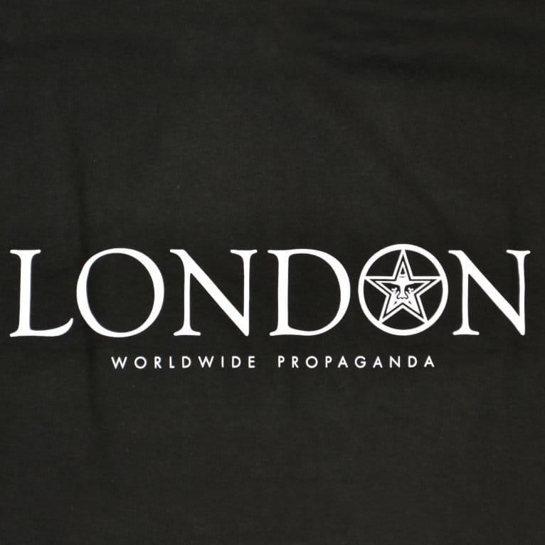 Obey London Tee Black