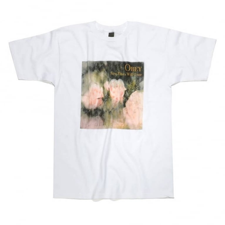 Obey New Times Tee White